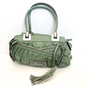 Guess brand green shoulder bag